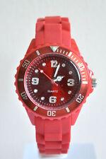 Montre Enfants Filles Garçons Bracelet Silicone Petit Watch Couleur ROUGE