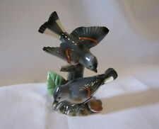 Rare Vintage Trimont Ware Porcelain Two Birds On A Stump Figurine