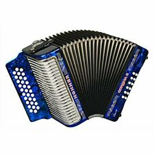 Hohner Button Accordion Corona II Classic FBbEb, With Bag, Straps, Dark Blue