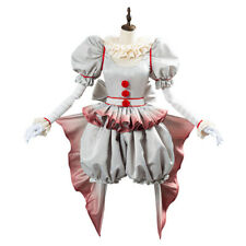 Pennywise Cosplay Costume Horror Pennywise The Clown Outfit Girl Dress