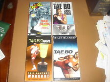 4 Tae-Bo Workout VHS Tapes: Cardio, Energy, Tae Boxing, Full Contact