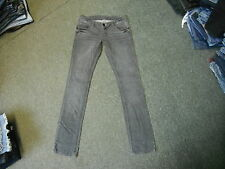 "Moto Skinny Jeans Waist 28"" Leg 32"" Black Faded Ladies Jeans"