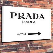 """Gossip Girl Prada Marfa 1837 mi (approx. 2956.36 km) Lona Impresa A1.30""""x20"""" ~ Marco 30 mm profundo"""