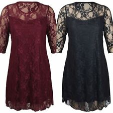 Unbranded Plus Size Lace Knee Length Dresses for Women