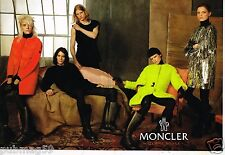 Publicité Advertising 2011 (2 pages) Pret à porter Moncler