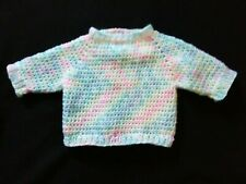 Hand Knit and Crochet Baby Pullover Sweater 6-12 months New