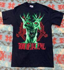Vintage 1988 Slayer Root Of All Evil Satan World Sacrifice Tour T Shirt Sz M