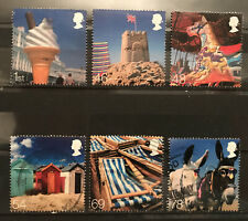 2007 Gb Beside the Seaside Used Stamp Set 2734 2739