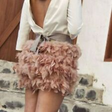 STRADIVARIUS FEATHER SKIRT PINK BLOGGERS SIZE S SMALL