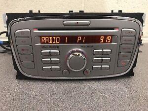 Ford 6000 Focus S-max C-max Galaxy Cd car radio stereo CD player Silver + Code