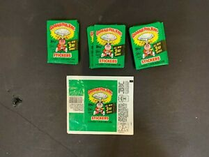 1986 Topps GPK Garbage Pail Kids 3rd Series 13 Empty Wax Pack Wrappers
