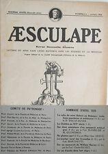 Aesculape n°4- 1926 : L'Art et la Médecine (Voir Sommaire Photo)