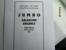 1929 Nelson Bros. Jumbo Line Gas Engine 1 3/4 -7HP Instruction and Parts Manual