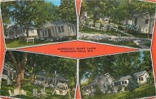 Wisconsin Dells WI~Auerbach's Shady Lawn Cottages~Lawn Furniture~1940s Post Card