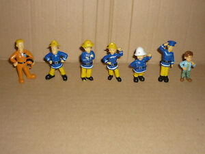 7x FEUERWEHRMANN SAM Figuren / Sammlung / 5-6,5cm / Set / Norris / Norman etc.