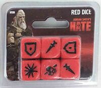 CMON - Hate - Red Dice (6) NEW