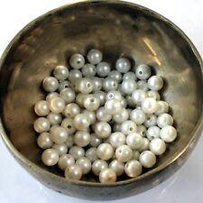 Rondes Ø 8mm  ANTHRACITE 30 Perles en Résine Nacrée