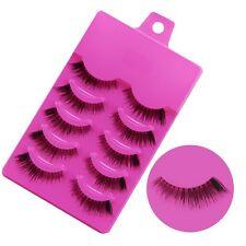 5 pair Natural clear band False eyelashes Winged eye lashes Daily eyelashes Z-17
