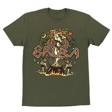 Santa Cruz Steve Alba Vintage Salba Witch Doctor T Shirt Military Green Medium