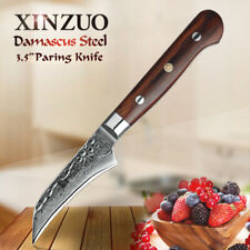 XINZUO 3.5 inch Paring Knife Damascus Steel Kitchen Knife Fruit Peeling Knives