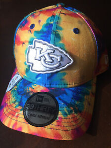 Kansas City Chiefs NFL Crucial Catch 39THIRTY Football Hat Cap Tie-Dye Cancer KC