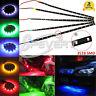 Flexible 15 LED 12V 30cm 3528SMD impermeable del LUZ coche de motor tiras de luz