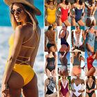 Ladies One Piece Bandage Bikini Push Up Monokini Swimsuit Bathing Suit Swimwear