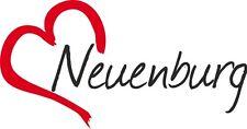 """Auto Aufkleber """" NEUENBURG """" Sticker Stadt Schweiz ca.8x16cm konturgeschnitten"""