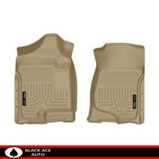 Husky WeatherBeater Front Floor Mats Tan for GM Truck/SUV 2007-14 Ext/Crew Cab