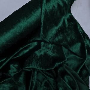 Gothic Bottle Green Crushed Velvet Velour Fabric Wedding Steampunk Dress Costume