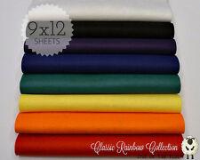 "CLASSIC RAINBOW Felt Collection Merino Wool Blend Felt, EIGHT 9"" X 12"" Sheets"