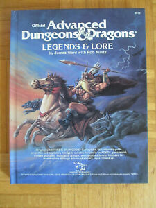 AD&D Legends & Lore - 1st Edition TSR 7. Printing 1988 Hardcover – Advanced Dung