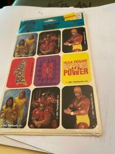 WWF Hulk Hogan Sealed 36 4 Sheets Titan Sports Stickers  Hulkamania