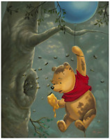 Disney Fine Art Limited Edition Canvas Pooh's Sticky Situation-Jared Franco