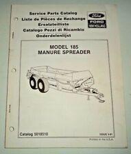 New Holland 185 Manure Spreader Parts Catalog Manual Book 591 Nh Original