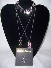 4 Piece Set Cookie Lee Necklaces Bracelet Pin Cancer Lot #17 NWT