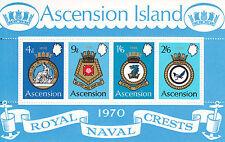 S/S: Ascension Island, Sc #137a, MNH, Royal Navy Crests (17287)