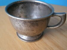 Antique Vintage Pewter Cup With Handle HMS Coffee Tea Mug