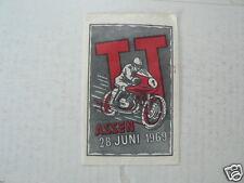 SUKERZAKJE SUGAR BAG DUTCH TT ASSEN 1969  MOTO GP WEGRACE ROADRACE