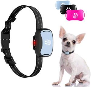 Small Dog Bark Collar, Smallest Anti Barking Collar with Beep, Vibrate - Humane