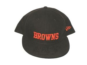 RAY BUBBA VENTRONE SIDELINE WORN SIGNED CLEVELAND BROWNS NEW ERA 59FIFTY HAT CAP