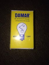 HI INTENSITY Bulb DAMAR 0210C, 210C LAMP 130VS 40WATTS CLEAR INTERMEDIATE BASE