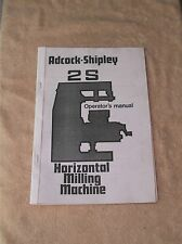Adcock & Shipley 2S Milling Machine Manual