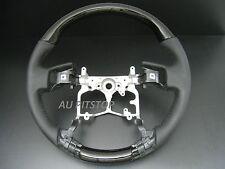 TOYOTA PRADO FJ150 FJ-150 2009-2013 BLACK PIANO wood leather steering wheel