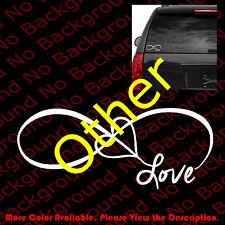 FAMILY LOVE HEART INFINITY FOREVER SYMBOL VINYL DECAL CAR WINDOW STICKER FM002