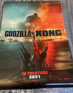 GODZILLA VS. KONG Theatrical Poster 27x40 D/S Near Mint Never Used! SEE PHOTOS