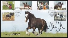MARTIN CLUNES Signed 2014 GB Working Horses Buckingham FDC Clydesdale SHS