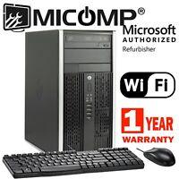 Fast HP Tower Computer PC Intel i5 3.2Ghz 6GB  New 120GB SSD Windows 10 Pro WiFi