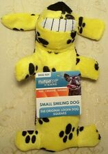 """New listing Multipet Yellow Smiling Loofa Fetch Chew Crinkle Squeaky Dog Toy 6"""" Boy Girl Pup"""