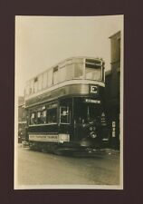 Lancashire Lancs BOLTON tram #27 to Westhoughton 1943 photograph by MJ O'Connor